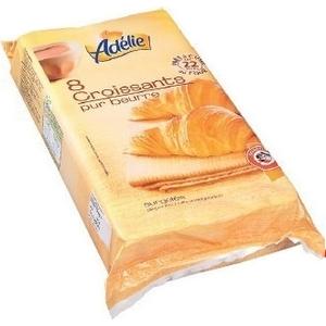 Adélie croissants pur beurre surgelés x8 480g