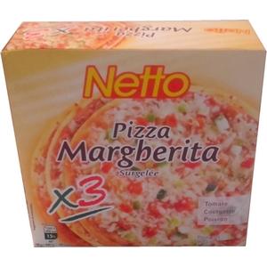 Netto pizza margherita x3 900g