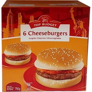 Top budget cheeseburger x6 750g