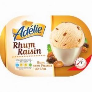 Adélie glace rhum / raisins 1l