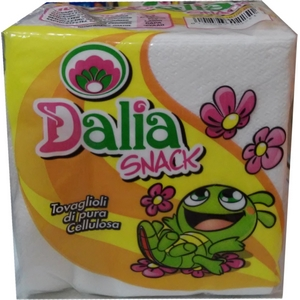 Serviettes papier blanches dalia snack lot 100
