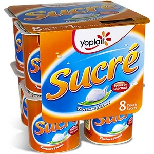 Yoplait yaourt nature sucré 8x125g