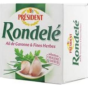 Président fromage rondelé le corsé relevé et parfumé aux fines herbes 125g
