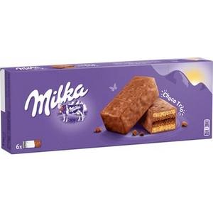 Milka choco trio gâteaux fourrés et enrobés 6x30g