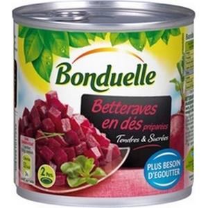Betteraves rouges en dés bonduelle 265g