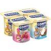 Comté yaourt aromatisés coco vanille letchi 4x125g