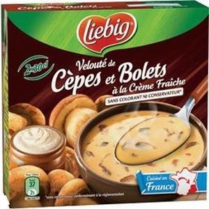 Liebig cèpes et bolets à la crème fraîche 2x30cl