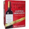 Vin Bordeaux rouge château Descazeau Côtes de Bourg 3l