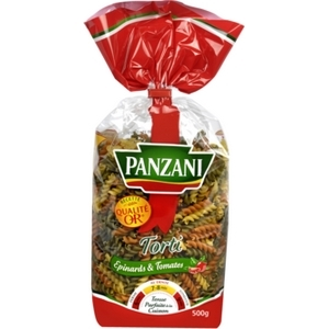 Panzani pâtes torti tomates et épinards 500g
