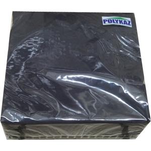 Polykaz serviettes papier 2 plis noir 35/38/40 lot de 40