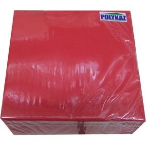 Polykaz serviettes papier 2 plis rouge 35/38/40 lot de 40