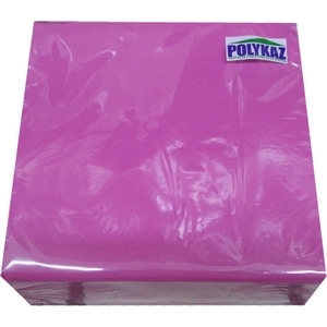 Polykaz serviettes papier 2 plis fuchsia 35/38/40 lot de 40