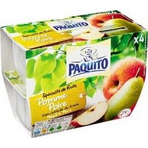 Paquito compote allégée en sucre pomme / poire 4x100g