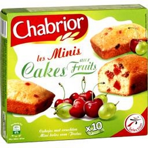 Chabrior les minis cakes aux fruits x10 300g