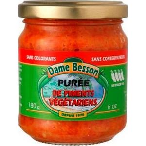 Dame besson purée de piment végétarien 180cl
