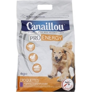 Canaillou croquettes chien au bœuf agneau et poulet pro énergy 4kg