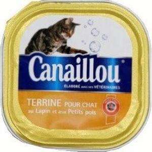 Canaillou terrine pour chat au lapin et aux petits pois 100g