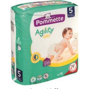 Pommette couches Agility 11-25kg x25