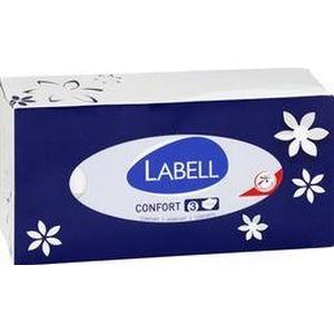 Labell mouchoirs blancs 3 épaisseurs boite de 110
