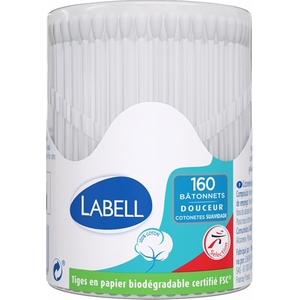 Labell bâtonnets coton x160