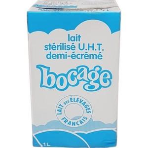 Bocage lait stérilisé u.h.t demi-écrémé 1l