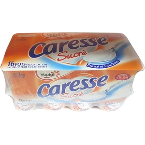 Caresse yaourt nature sucré 16x125g