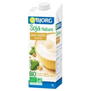 Bjorg lait soja nature sans sucres ajoutés 1l