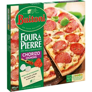Buitoni pizza four à pierre chorizo oignons 380g