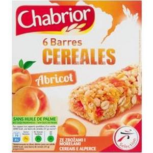 Chabrior 6 barres céréalières à l'abricot 125g