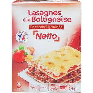 Netto lasagnes à la bolognaise 325g