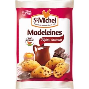 ST MICHEL madeleines aux pépites de chocolat 400g