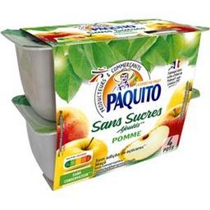 Paquito purée de pommes sans sucres ajoutés 4x100g