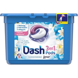 Dash Pods fleurs de lotus 3en1 x18