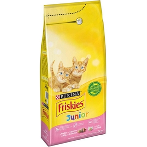 Friskies croquettes chat junior, poulet et légumes 2kg
