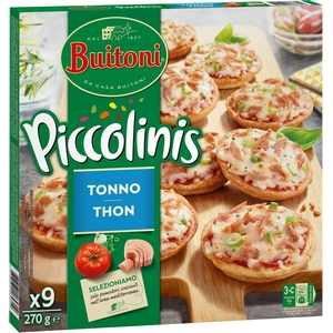 Buitoni mini pizza piccolinis thon x9, 270g
