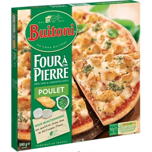 Buitoni pizza four à pierre poulet 390g