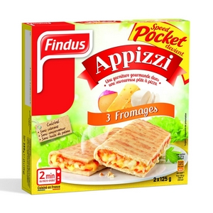 Findus Speed Pocket Appizzi 3 fromages 2X125G