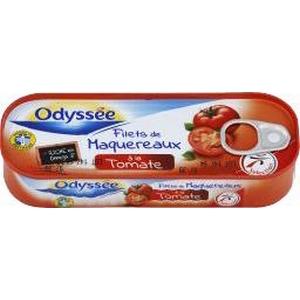 Odyssée filets de maquereaux tomate et basilic 169g