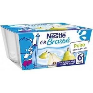 Nestlé p'tit brassé poire 6  mois 4x100g
