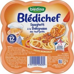 Blédichef spaghetti à la bolognaise dès 12 mois 230g