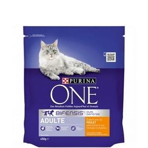 Purina One croquettes chat adulte, poulet et céréales complètes 450g