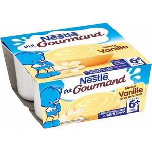 Nestlé p'tit gourmand vanille 6  mois 4x100g