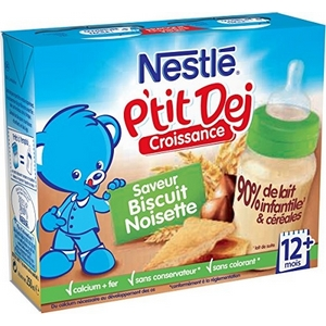 Nestlé Bébé P'tit Dej Noisette dès 12 mois 2 x 250ml