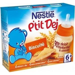 Nestlé Bébé P'tit Dej biscuité 6 mois et plus 2 x 250ml