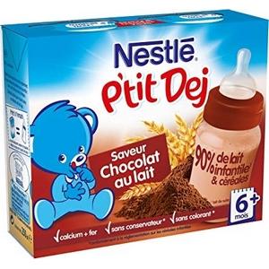 Nestlé Bébé P'tit Dej chocolat au lait 12 mois et plus 2 x 250ml