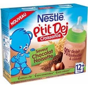 Nestlé Bébé P'tit Dej chocolat noisette 12 mois et plus 2 x 250ml