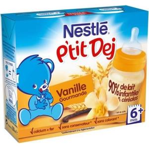 Nestlé Bébé P'tit Dej vanille 12 mois et plus 2 x 250ml