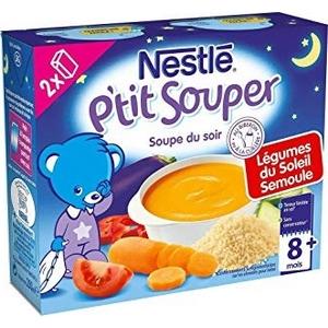 Nestlé p'tit souper légumes du soleil, semoule dès 8 mois 2x250ml