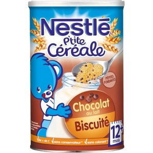 Nestlé p'tite céréale Chocolat biscuité 12M plus 400g