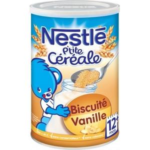 Nestlé p'tite céréale vanille biscuité 12M plus 400g